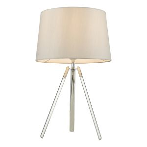 Griffith Table Lamp Polished Chrome With Shade
