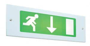 Saxby GRI8NM3 Single 8W Recessed Non-Maintained Fire Exit Sign Emergency