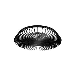 Himalaya 70W LED Dimmable Ceiling Light With Built-In 35W DC Fan, c/w Remote Control, APP & Alexa/Google Voice Control, 3000lm, Black, 5yrs Warranty
