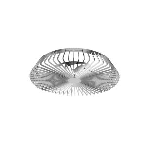 Himalaya 70W LED Dimmable Ceiling Light With Built-In 35W DC Fan, c/w Remote Control, APP & Alexa/Google Voice Control, 4900lm, Silver, 5yrs Warranty