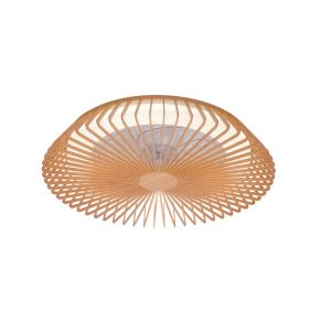 Himalaya 70W LED Dimmable Ceiling Light With Built-In 35W DC Fan, c/w Remote Control, APP & Alexa/Google Voice Control, 3000lm, Wood, 5yrs Warranty