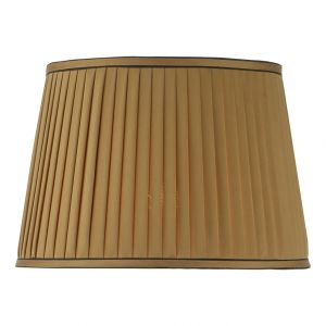 DAR HOW4235RS-X Howard 38cm Gold Faux Silk Tapered Drum