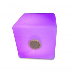Cube Speaker. 7 color With remote control With Speaker With Bluetooth. 40x40x40, Opal White