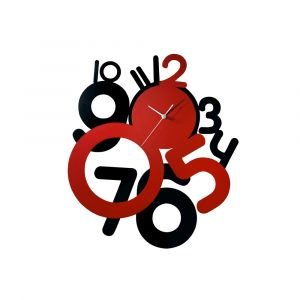 Diyas Home IL70093 (DH) Infinity Funky Clock Black/Red