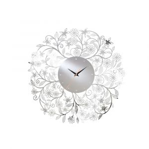 Diyas Home IL70097 (DH) Infinity Wall Art Clock Stainless Steel/Crystal