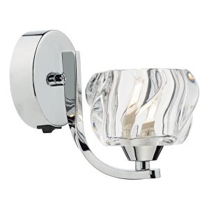 Ivy Single Wall Light Polished Chrome/Clear Glass Finish Switched