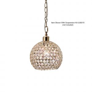Diyas IL30762 Kudo Ball Non-Electric SHADE ONLY French Gold/Crystal