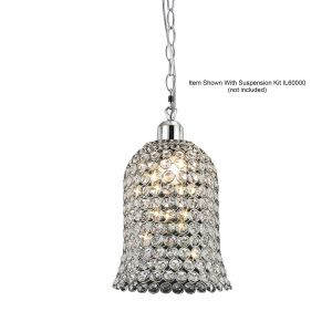 Diyas IL60001 Kudo Bell Non-Electric SHADE ONLY Polished Chrome/Crystal