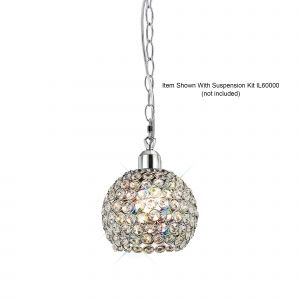 Diyas IL60004 Kudo Ball Non-Electric SHADE ONLY Polished Chrome/Crystal