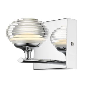 Icaro 1 Light Integrated LED, 90lm, Double Insulated Polished Chrome Wall Light