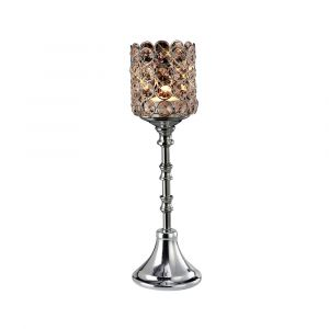 Diyas Home IL70024 (DH) Malo Large Chalice Crystal  Candle Holder