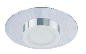 *## Marcel Recessed Down Light 4W LED Round 3000K IP44, 360lm, Satin Aluminium/Frosted Acrylic/Chrome, Cut Out: 70mm, Driver Included, 3yrs Warranty