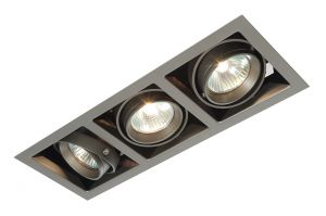Saxby MR00301 Box 3 Light Recessed Downlight Silver Finish