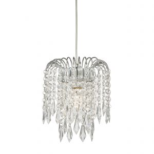 Levens Non Electric Shade Polished Chrome/Clear Acrylic Finish