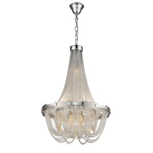 Valery 6 Light Adjustable E14 Dimmable Silver Pendant