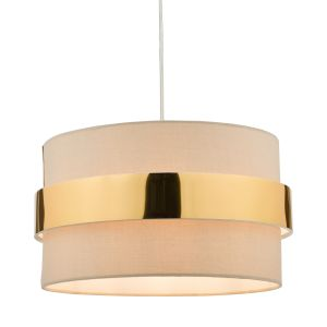 Oki Non Electric Shade Taupe With Gold Band Finish