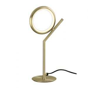 Mantra M6586 Olimpia Table Lamp, 8W LED, 3000K, 600lm, IP20, Satin Gold, 3yrs Warranty