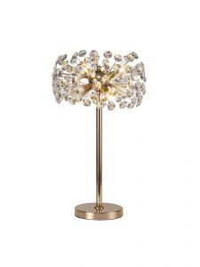 Riptor Table Lamp 6 Light G9 French Gold/Crystal
