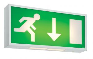 Saxby RUN8M3 Single 3 Hour Non Maintained Emergency Exit Sign