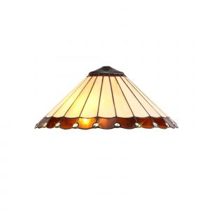 Nu Derham Tiffany 40cm Shade Only Suitable For Pendant/Ceiling/Table Lamp, Amber/CCrain/Crystal