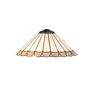 Nu Derham Tiffany 40cm Shade Only Suitable For Pendant/Ceiling/Table Lamp, Grey/CCrain/Crystal