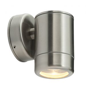 Saxby ST5009SS Odyssey Single IP65 Outdoor Wall Light Brushed Stainless Steel Finish