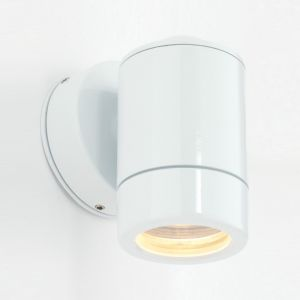 Saxby ST5009WHT Odyssey Single IP65 Outdoor Wall Light Gloss White Finish