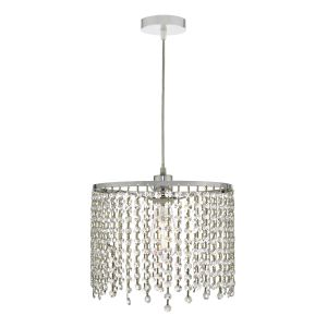 Dar YIA6508 Yiannis Non Electric Pendant Clear Crystal Finish