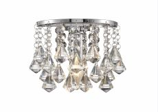 Acton Wall Lamp 1 Light E14 Switched Polished Chrome/Prism Crystal