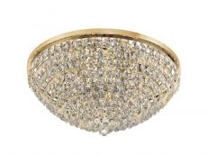 Diyas IL32819 Coniston Flush Ceiling, 15 Light E14, French Gold/Crystal