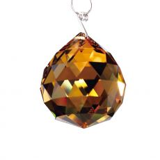 Diyas C10033 Crystal Sphere Without Ring Amber 30mm
